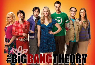 Big Bang Theory cast w logo
