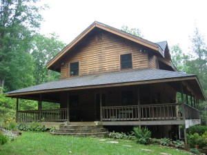 Tate City Cabin Front Summer