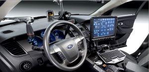 police in car dash camera