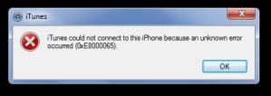 Error-iTunes-0xE8000065