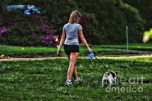 girl-walking-dog-paul-ward
