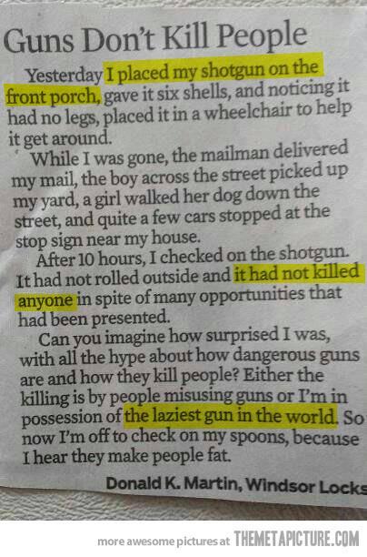 Guns Don't killPeople