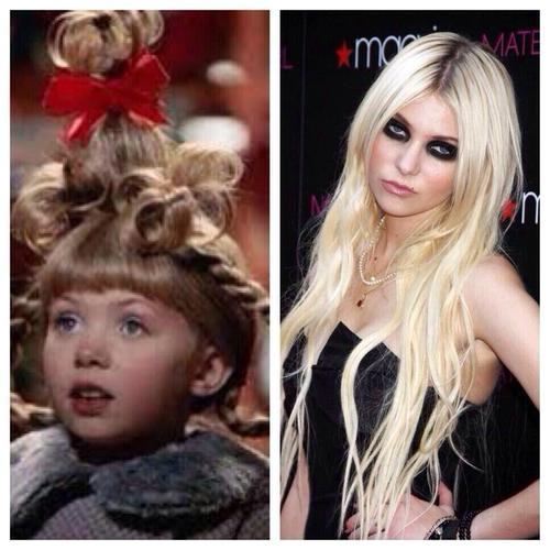 Cindy Lou Who then and now