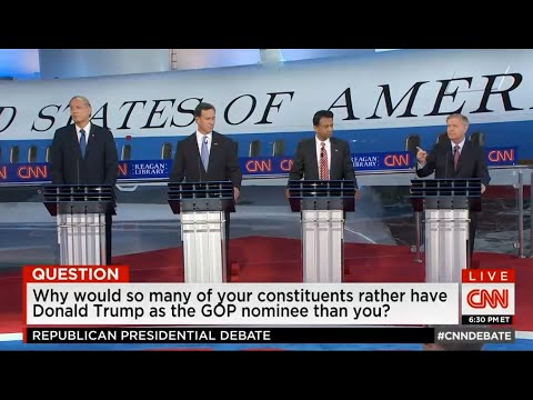 Even this debate was about TRUMP