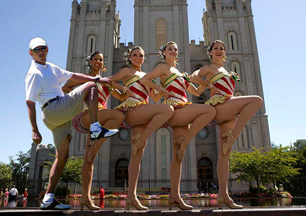 Obama-Golf-Photoshop-Rockettes-Chorus-Line