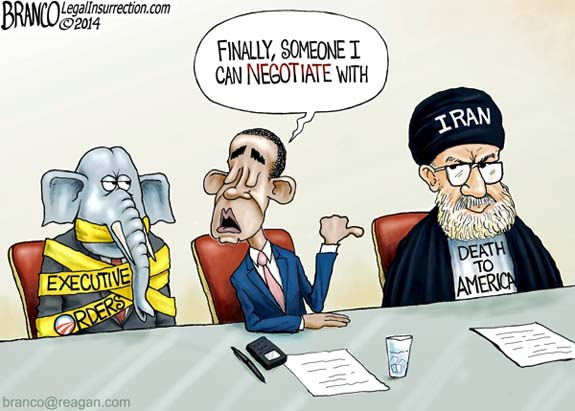 Obama GOP Khamenei Negotiation Iran Nuke Deal Cartoon